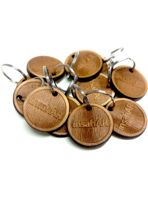 Custom wooden keychain