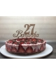 La décoration de tartes-il suffit d'écrire de l' âge et le nom