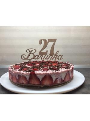 Deko für Torte - einfach Namen und Alter ausfüllen