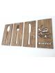 Vlastní motiv ze dřeva (čtverec) od 25 x 25 cm do 100 x 100 cm