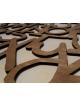 Motivo personalizzato in legno (quadrato) da 25 x 25 cm a 100 x 100 cm