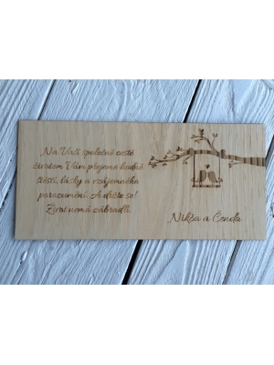 Auguri in legno per buste