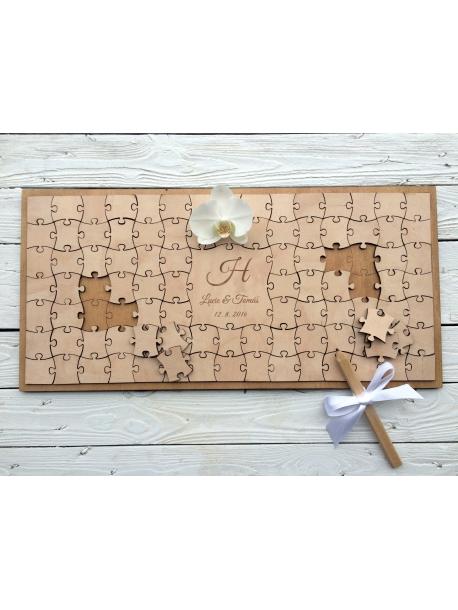 Guest book - Puzzle (podpisová kniha hostů na svatby,...)