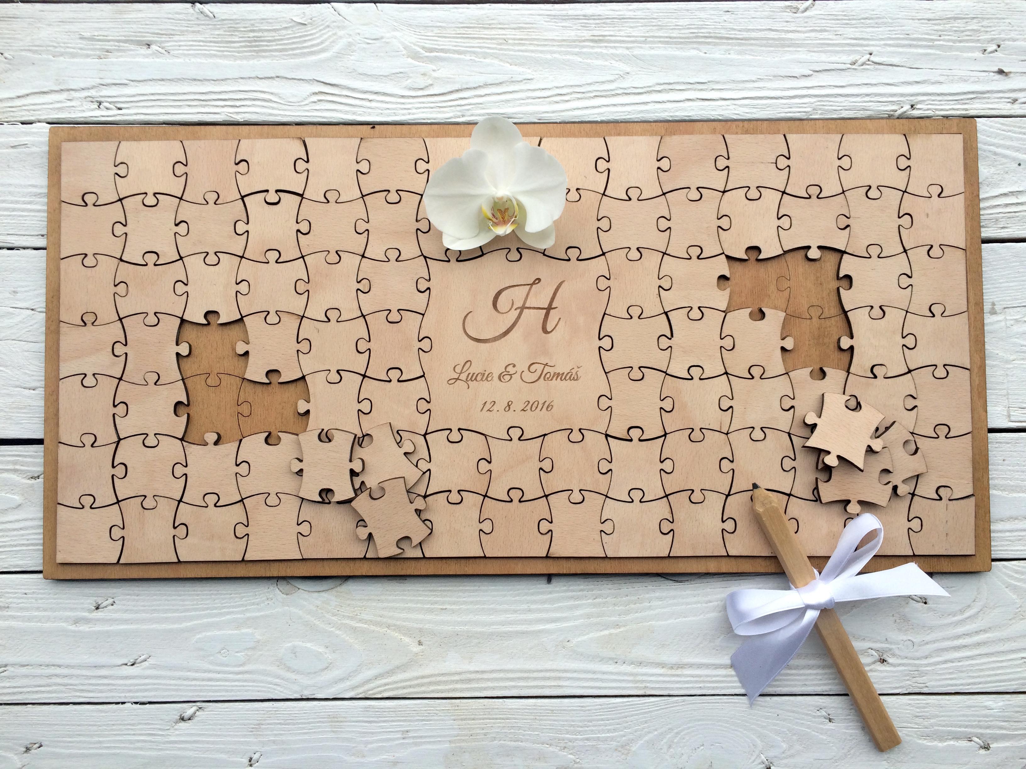 gästebuch hochzeit puzzle