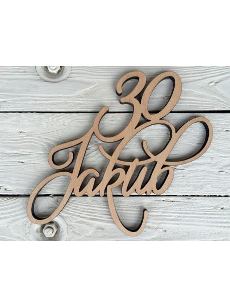 Nome in legno personalizzato con l'età (regalo per compleanno)