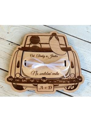 Svatební auto  - dárková krabička na peníze