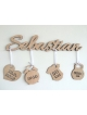 Wooden gift for the newborn child (natural wood)
