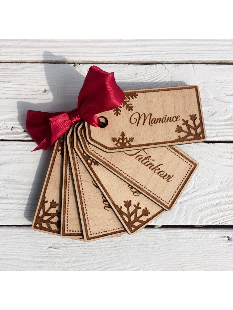 Wooden Christmas gift tags - Woodener shop