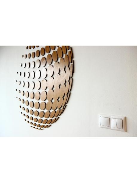Nástěnná instalace 100 x 110 cm