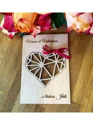 Dřevěná valentinka s věnováním