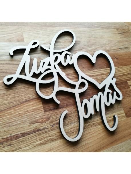 Dvě jména na míru ( kolaudace, svatby, oslavy ), ... Zadejte vlastní jména