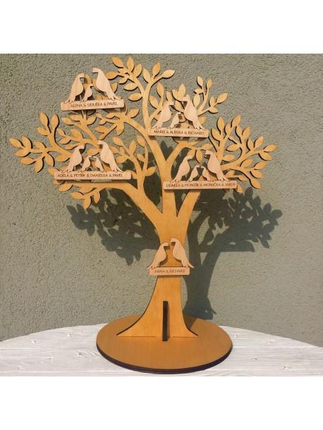 Rodinný strom - holubičky