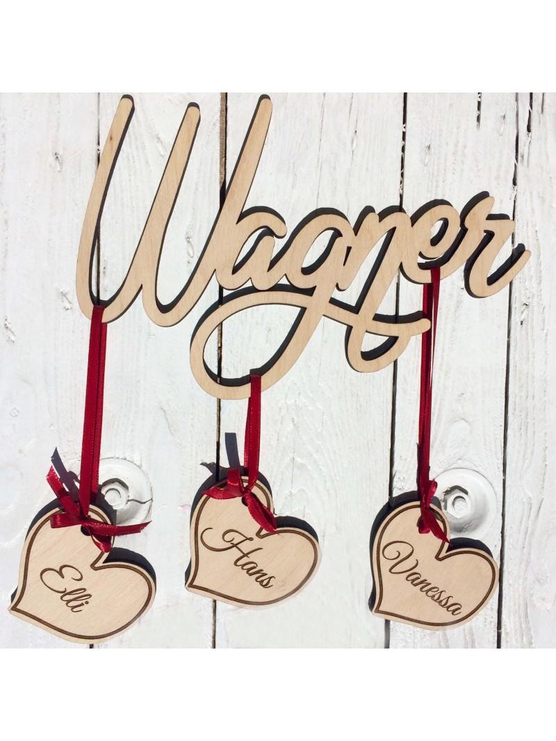 Le porte nom de famille en bois woodener shop - Nom de famille americain les plus portes ...