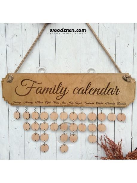 Calendario per la famiglia