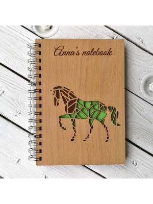 Blok A5 s vašim jménem - kůň