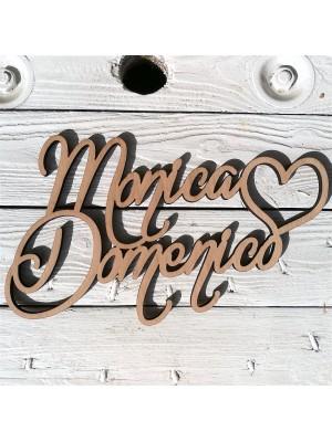 Scritta con due nomi personalizzabili (inaugurazioni, matrimoni, feste…)