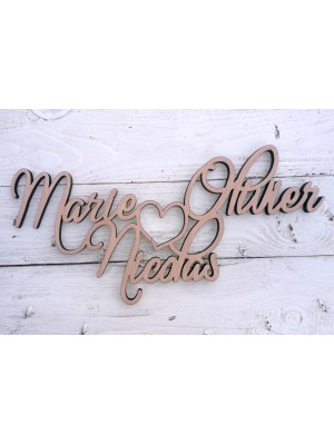 Custom wooden names