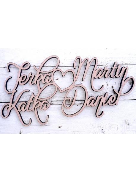 Čtyři jména na míru ( kolaudace, svatby, oslavy ), ... Zadejte vlastní jména
