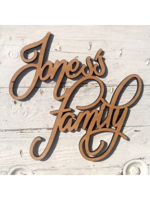 Custom wooden surname