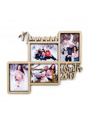 Wooden wedding photo album