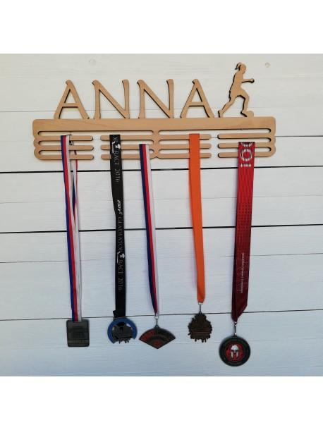 Aufhänger für Medaillen mit seinem eigenen Namen und Sport