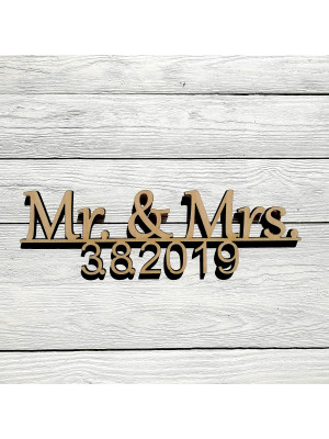 Mr. & Mrs. mit Datum