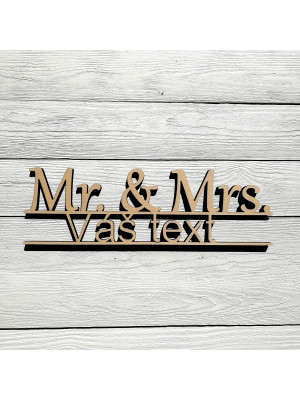 Mr. & Mrs. s vlastním textem
